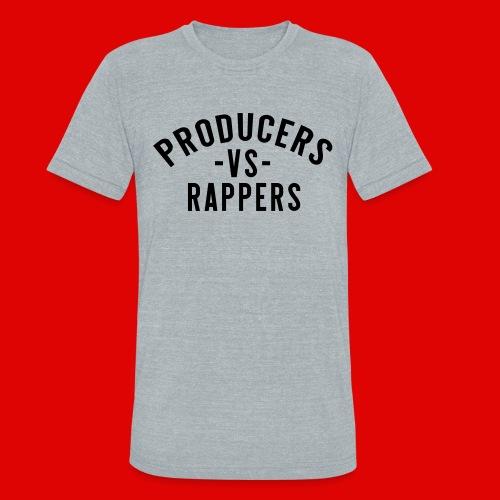 PRODUCERS -VS- RAPPERS (BLKWRDS) BY SHAWTYREDD - Unisex Tri-Blend T-Shirt