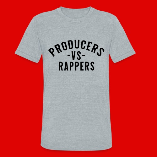 PRODUCERS -VS- RAPPERS (BLKWRDS) BY SHAWTYREDD - Unisex Tri-Blend T-Shirt
