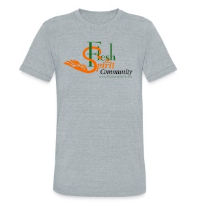 Flesh and Spirit Community T-Shirt - Unisex Tri-Blend T-Shirt by American Apparel