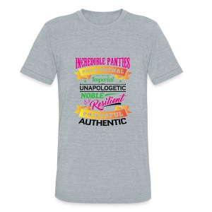 IncrediblePanties Multi Signature - Unisex Tri-Blend T-Shirt