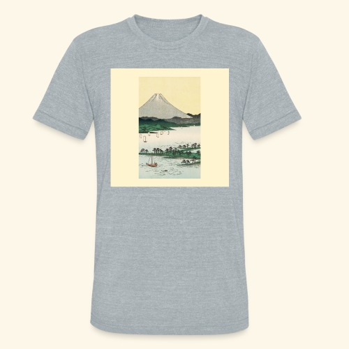 Mount Fuji from Suruga Bay Japan - Unisex Tri-Blend T-Shirt
