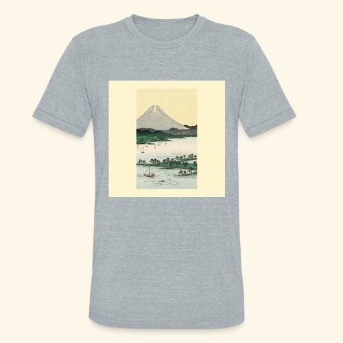 Mount Fuji from Suruga Bay Japan - Unisex Tri-Blend T-Shirt