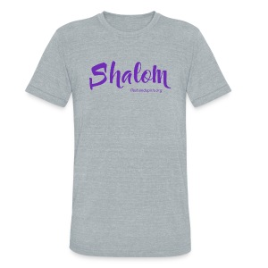 shalom t-shirt - Unisex Tri-Blend T-Shirt by American Apparel