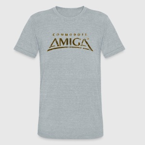 Commodore Amiga Vintage T Shirt - Unisex Tri-Blend T-Shirt by American Apparel