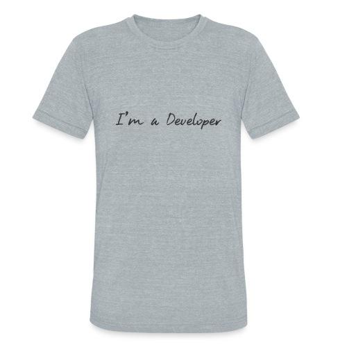 i am a developer - Unisex Tri-Blend T-Shirt