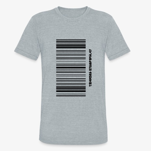 Time Supply - Barcode T-Shirt - Unisex Tri-Blend T-Shirt