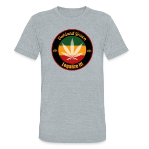 Oakland Grown Cannabis 420 Wear - Unisex Tri-Blend T-Shirt by American Apparel