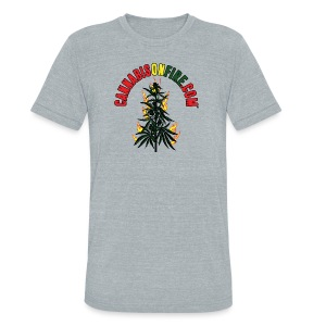 Cannabis On Fire T-Shirt 420 Cannabis Wear 2017 - Unisex Tri-Blend T-Shirt by American Apparel