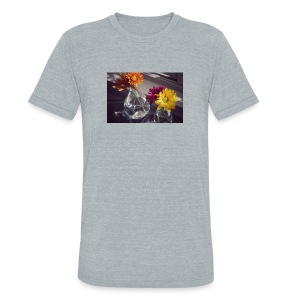 sweet morning flowers - Unisex Tri-Blend T-Shirt