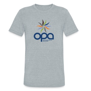 Short-sleeve t-shirt with full color OPA logo - Unisex Tri-Blend T-Shirt by American Apparel
