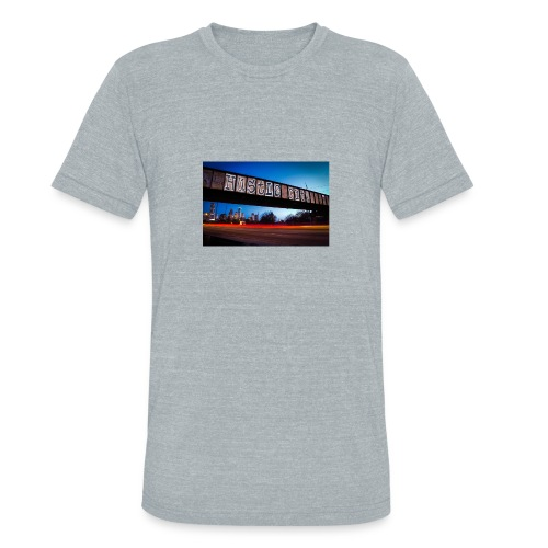 Husttle City Bridge - Unisex Tri-Blend T-Shirt