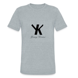 Young Kevino Official Logo (Black) - Unisex Tri-Blend T-Shirt by American Apparel