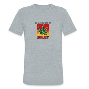 Oakland Grown Legal Cannabis Tshirts 420 wear - Unisex Tri-Blend T-Shirt by American Apparel