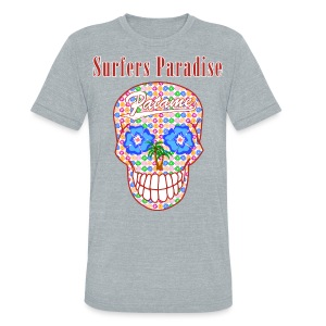 Patame Surfers Paradise Skull Red - Unisex Tri-Blend T-Shirt