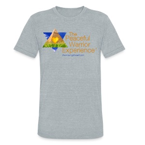 The Peaceful WarriorExperience t-shirt 2 - Unisex Tri-Blend T-Shirt by American Apparel