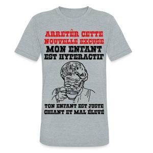 arrêter cette nouvelle excuse - T-shirt triple mélange pour hommes