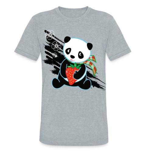 Cute Kawaii Panda T-shirt by Banzai Chicks - Unisex Tri-Blend T-Shirt
