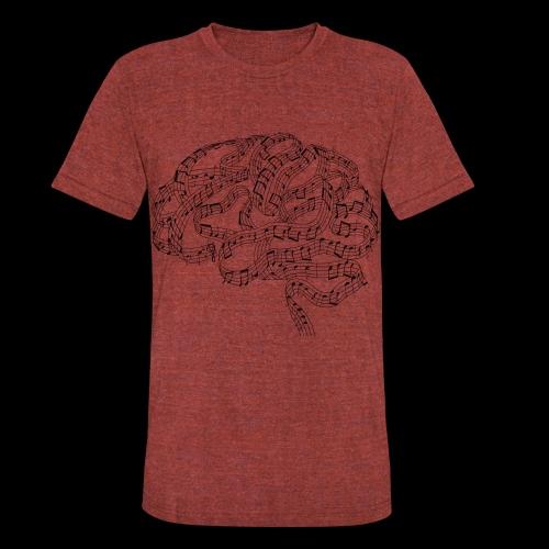 Sound of Mind | Audiophile's Brain - Unisex Tri-Blend T-Shirt
