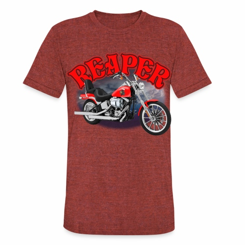 Motorcycle Reaper - Unisex Tri-Blend T-Shirt