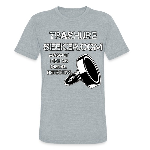 trashureseeker logo - Unisex Tri-Blend T-Shirt