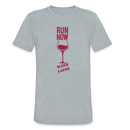 Run Now Gym Motivation - Unisex Tri-Blend T-Shirt