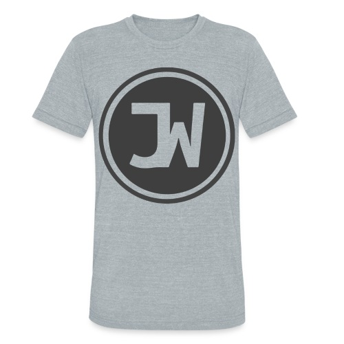Grey Johannes With Logo - Unisex Tri-Blend T-Shirt
