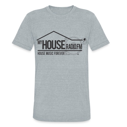 My House Radio Black Logo - Unisex Tri-Blend T-Shirt