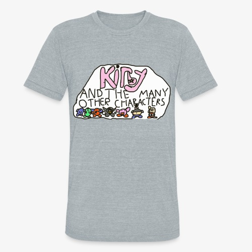 Kirby and the many other characters - Unisex Tri-Blend T-Shirt