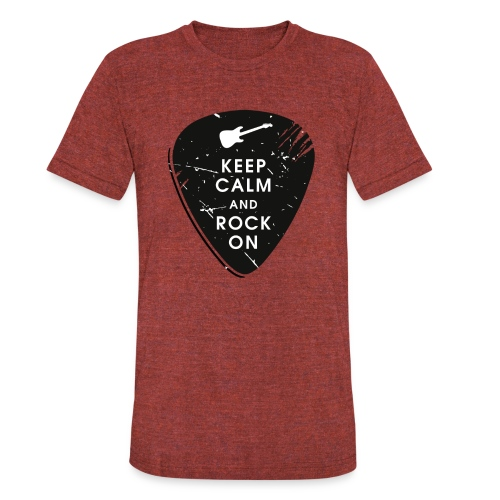 Keep calm and rock on - Unisex Tri-Blend T-Shirt