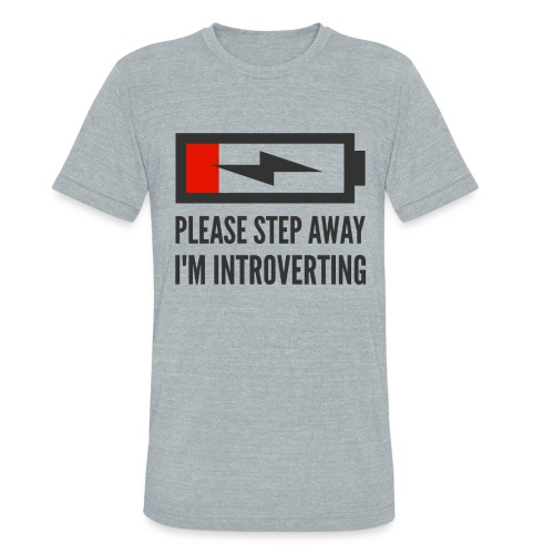 introverting - Unisex Tri-Blend T-Shirt