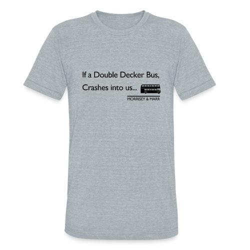 Double Decker Bus - Unisex Tri-Blend T-Shirt