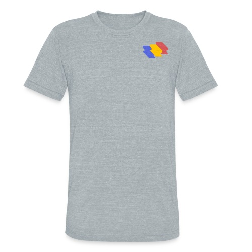 3D Single Rail Track Texas - Unisex Tri-Blend T-Shirt