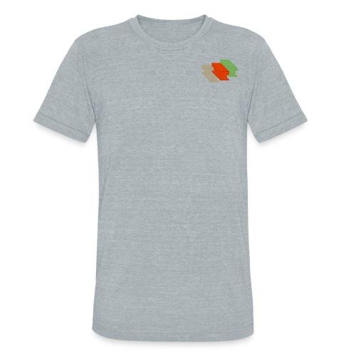 3D Single Rail Track California - Unisex Tri-Blend T-Shirt