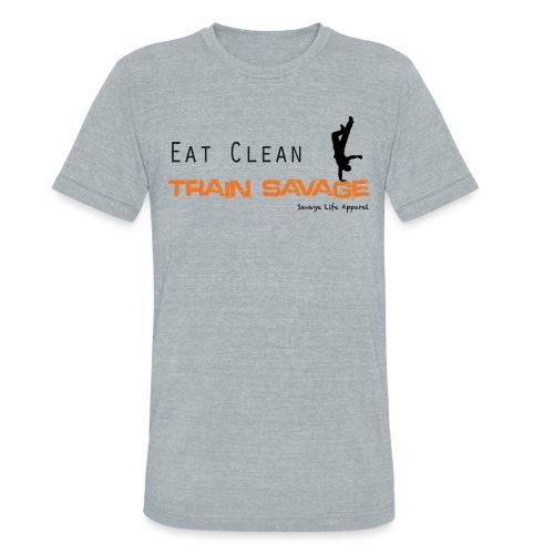 eatcleantrainsavage - Unisex Tri-Blend T-Shirt
