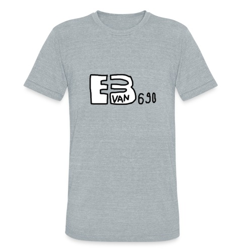 Evan3690 Logo - Unisex Tri-Blend T-Shirt