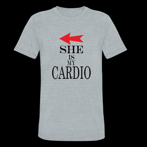 She is my Cardio - Unisex Tri-Blend T-Shirt