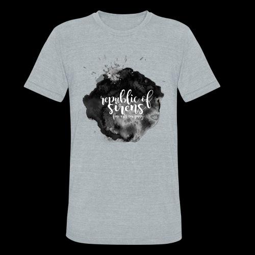 ROS FINE ARTS COMPANY - Black Aqua - Unisex Tri-Blend T-Shirt