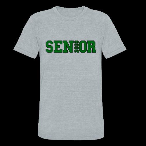 Green Senior Black Outline - Unisex Tri-Blend T-Shirt