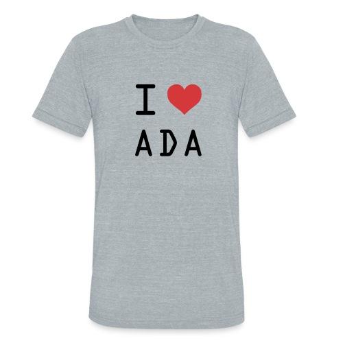 I HEART ADA (Cardano) - Unisex Tri-Blend T-Shirt