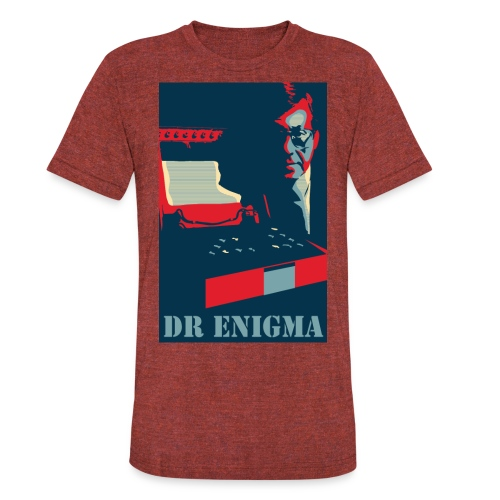 Dr Enigma+Enigma Machine - Unisex Tri-Blend T-Shirt