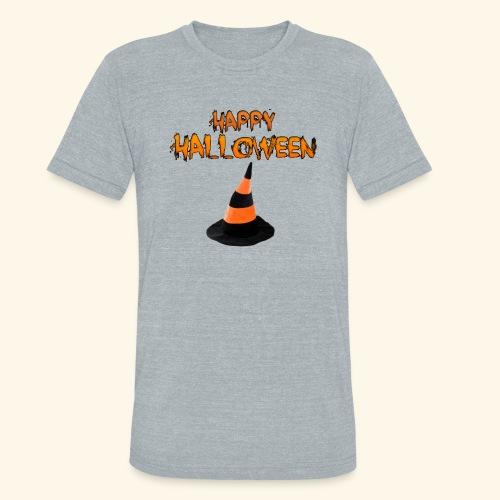HAPPY HALLOWEEN WITCH HAT TEE - Unisex Tri-Blend T-Shirt
