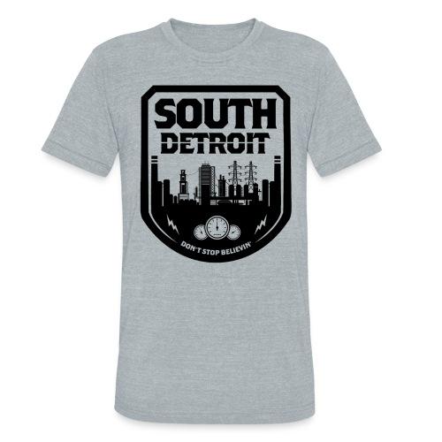 South Detroit Black - Unisex Tri-Blend T-Shirt
