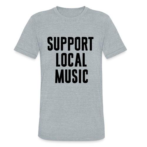 Local-Music-bk - Unisex Tri-Blend T-Shirt