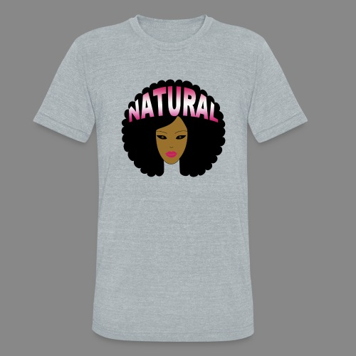 Natural Afro (Pink) - Unisex Tri-Blend T-Shirt