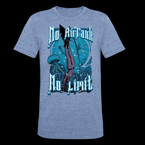 No Air Tank No Limit Freediving merchandise - Unisex Tri-Blend T-Shirt