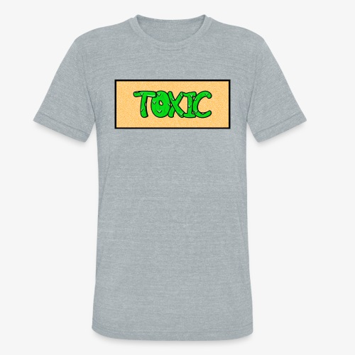 Toxic design v2 Orange - Unisex Tri-Blend T-Shirt