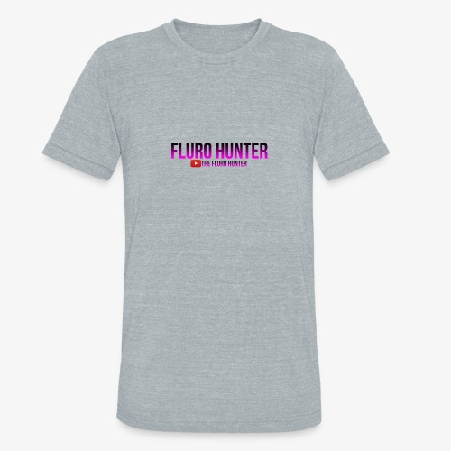 The Fluro Hunter Black And Purple Gradient - Unisex Tri-Blend T-Shirt