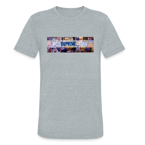 XXI SUPREME GOKU LOGO 2 - Unisex Tri-Blend T-Shirt