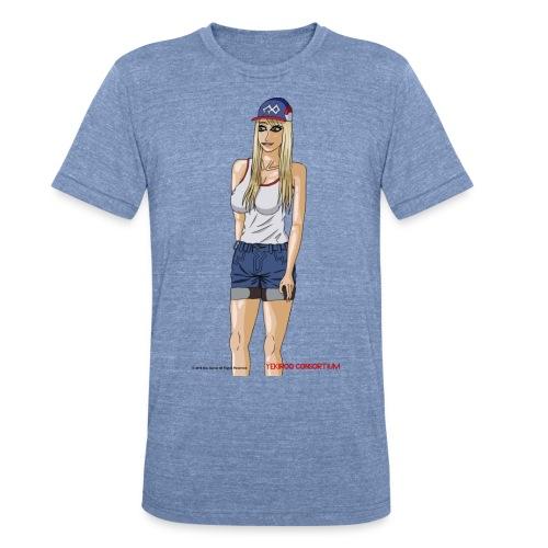 Gina Character Design - Unisex Tri-Blend T-Shirt