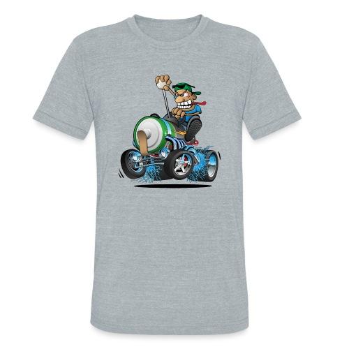 Hot Rod Electric Car Cartoon - Unisex Tri-Blend T-Shirt